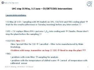 LHC stop 31 May 1 2 June CVDETCOOL
