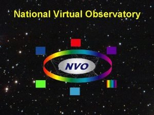 National Virtual Observatory The National Virtual Observatory National