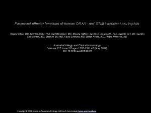 Preserved effector functions of human ORAI 1 and