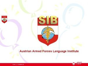 Austrian Armed Forces Language Institute Study group 3