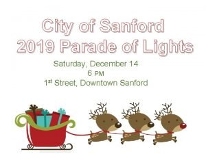 City of Sanford 2019 Parade of Lights Saturday