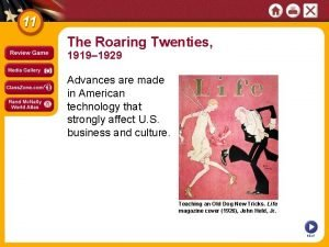 The Roaring Twenties 1919 1929 Advances are made