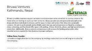 Biruwa Ventures Kathmandu Nepal Biruwa provides business support