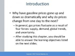 Introduction Why have gasoline prices gone up and