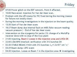 Friday 07 00 Power glitch on the EDF