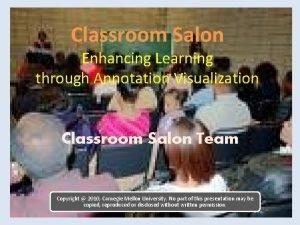 Classroom Salon Enhancing Learning through Annotation Visualization Classroom