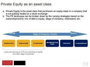 Private Equity as an asset class a Private