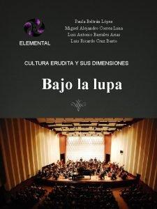 ELEMENTAL Paula Beltrn Lpez Miguel Alejandro Correa Luna
