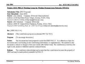 July 2004 doc IEEE 802 15 04189 r