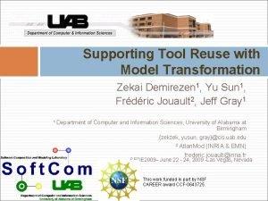 Supporting Tool Reuse with Model Transformation Zekai Demirezen