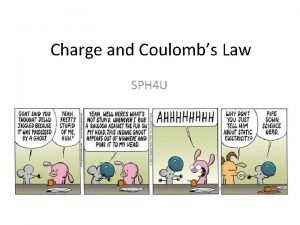 Charge and Coulombs Law SPH 4 U Coulombs
