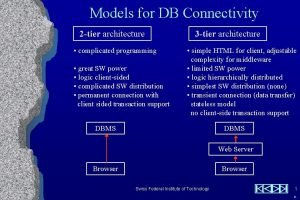 Connectivity 23 Tier Models for DB Connectivity 2