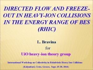 DIRECTED FLOW AND FREEZEOUT IN HEAVYION COLLISIONS IN