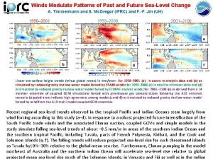 Winds Modulate Patterns of Past and Future SeaLevel
