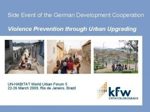 Side Event of the German Development Cooperation Violence