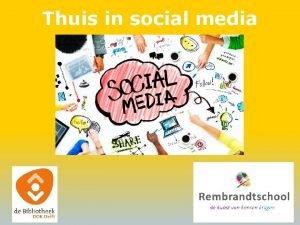 Thuis in social media Thuis in social media