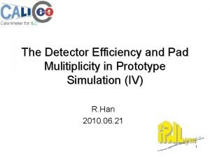 The Detector Efficiency and Pad Mulitiplicity in Prototype