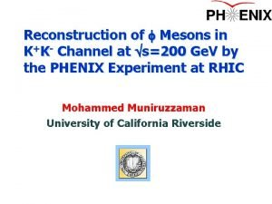 Reconstruction of f Mesons in KK Channel at