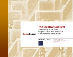 The Creative Quotient Innovating Your Sales Organization and