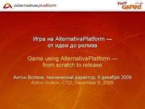 Alternativa Platform Game using Alternativa Platform from scratch