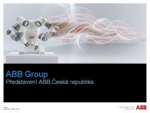ABB Group Pedstaven ABB esk republika ABB September
