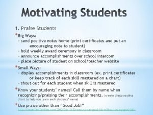 1 Praise Students Big Ways send positive notes
