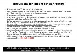 Instructions for Trident Scholar Posters Posters must be