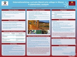 Internationalizing a private liberal arts college in Ghana