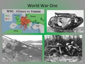 World War One War on the Homefront After