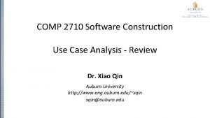 COMP 2710 Software Construction Use Case Analysis Review