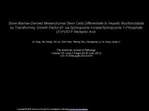 Bone MarrowDerived Mesenchymal Stem Cells Differentiate to Hepatic