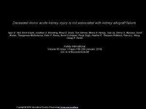 Deceaseddonor acute kidney injury is not associated with