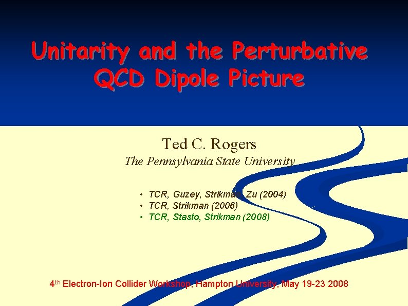 Unitarity and the Perturbative QCD Dipole Picture Ted