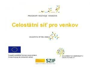 Celosttn s pro venkov Evropsk zemdlsk fond pro