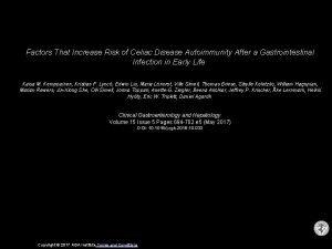 Factors That Increase Risk of Celiac Disease Autoimmunity