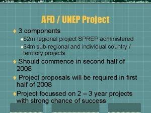 AFD UNEP Project t 3 components t2 m