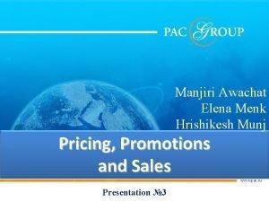 Manjiri Awachat Elena Menk Hrishikesh Munj Pricing Promotions