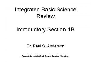 Integrated Basic Science Review Introductory Section1 B Dr