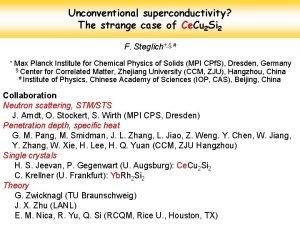Unconventional superconductivity The strange case of Ce Cu
