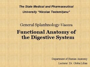 The State Medical and Pharmaceutical University Nicolae Testemianu