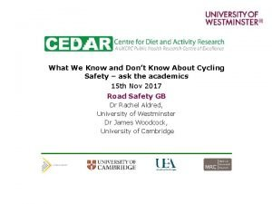 What We Know and Dont Know About Cycling