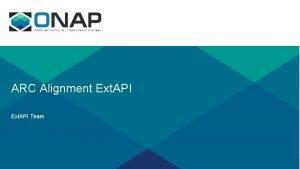 ARC Alignment Ext API Team External API 12