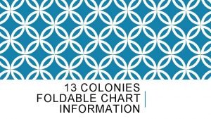 13 COLONIES FOLDABLE CHART INFORMATION NEW ENGLAND COLONIES