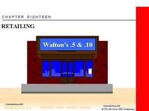 CHAPTER EIGHTEEN RETAILING Waltons 5 10 IrwinMc GrawHill