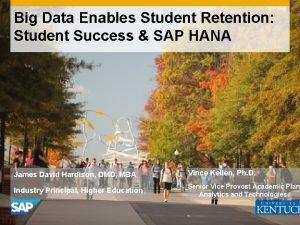 Big Data Enables Student Retention Student Success SAP