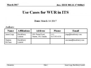 March 2017 doc IEEE 802 11 170406 r