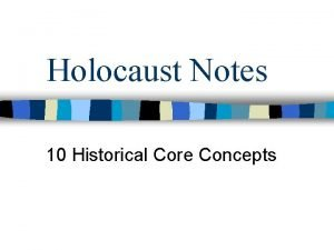 Holocaust Notes 10 Historical Core Concepts 10 Historical