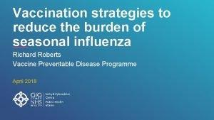 Vaccination strategies to reduce the burden of seasonal