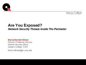 Are You Exposed Network Security Threats Inside The