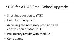 s TGC for ATLAS Small Wheel upgrade Short